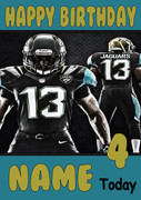 Personalised Jacksonville Jaguars Birthday Card 5