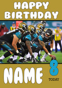 Personalised Jacksonville Jaguars Birthday Card 6