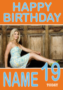 Personalised Holly Willoughby Birthday Card