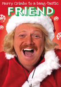 Personalised Keith Lemon Merry Crimbo Birthday Card