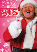 Personalised Keith Lemon Merry Crimbo sis Birthday Card