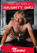 Personalised Keith Lemon Naught Girl Birthday Card