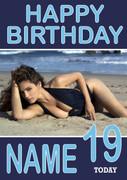 Personalised Kelly Brooke Birthday Card