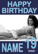Personalised Kendall Jenner Birthday Card