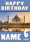 Personalised Taj Mahal Birthday Card