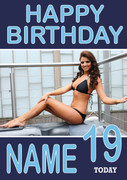 Personalised Lucy Mecklenburgh Birthday Card
