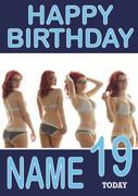 Personalised Meg Turney Birthday Card