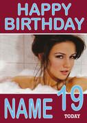 Personalised Michelle Keegan Birthday Card
