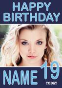 Personalised Natalie Dormer Birthday Card