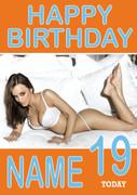 Personalised Rosie Jones Birthday Card