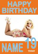 Personalised Pixie Lott Birthday Card