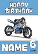 Personalised Yamaha Bike 3 Birthday Card