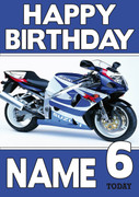 Personalised suzuki bike Birthday Card