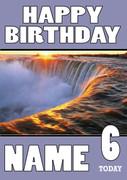 Personalised Niagra Falls Birthday Card
