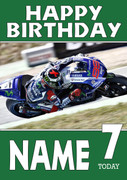 Personalised Yamaha Bike 1 Birthday Card