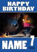 Personalised Breakdance Birthday Card