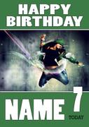 Personalised Breakdance 3 Birthday Card