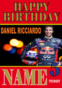 Personalised Daniel Ricciardo Birthday Card 5