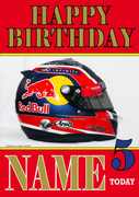 Personalised Daniil Kvyat Birthday Card 4