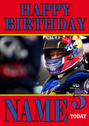 Personalised Daniil Kvyat Birthday Card 5