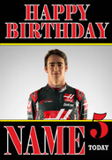 Personalised Esteban Gutierrez Birthday Card
