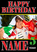 Personalised Esteban Gutierrez Birthday Card 2