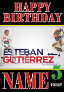 Personalised Esteban Gutierrez Birthday Card 4