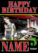Personalised Esteban Gutierrez Birthday Card 5