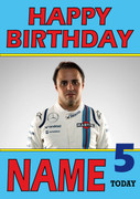 Personalised Felipe Massa Birthday Card