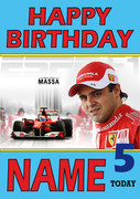 Personalised Felipe Massa Birthday Card 2