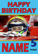 Personalised Felipe Massa Birthday Card 3