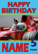 Personalised Felipe Massa Birthday Card 4