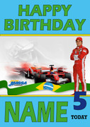 Personalised Felipe Massa Birthday Card 5