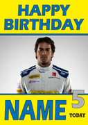 Personalised Felipe Nasr Birthday Card