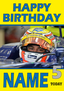Personalised Felipe Nasr Birthday Card 3