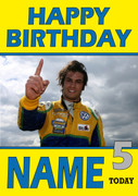 Personalised Felipe Nasr Birthday Card 4