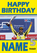 Personalised Felipe Nasr Birthday Card 5