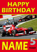 Personalised Fernando Alonso Birthday Card 2