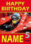 Personalised Fernando Alonso Birthday Card 3