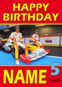 Personalised Fernando Alonso Birthday Card 4