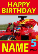 Personalised Fernando Alonso Birthday Card 5