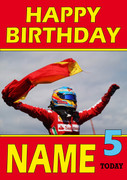 Personalised Fernando Alonso Birthday Card 6