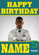 Personalised Lewis Hamilton  Birthday Card 1