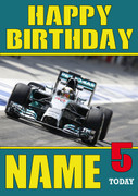 Personalised Lewis Hamilton  Birthday Card 4