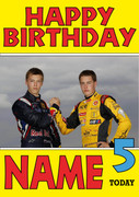 Personalised Stoffel Vandoorne Birthday Card 4