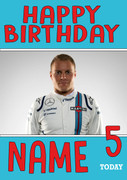 Personalised Valtteri Bottas Birthday Card