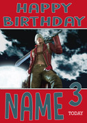 Retro Gaming Dante Devil May Cry Personalised Card