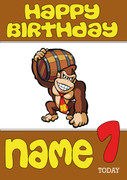 Retro Gaming Donkey Kong Personalised Card 2