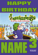 Retro Gaming Lemmings Personalised Card