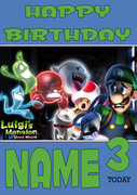 Retro Gaming Luigi's Mansion Personalised Card